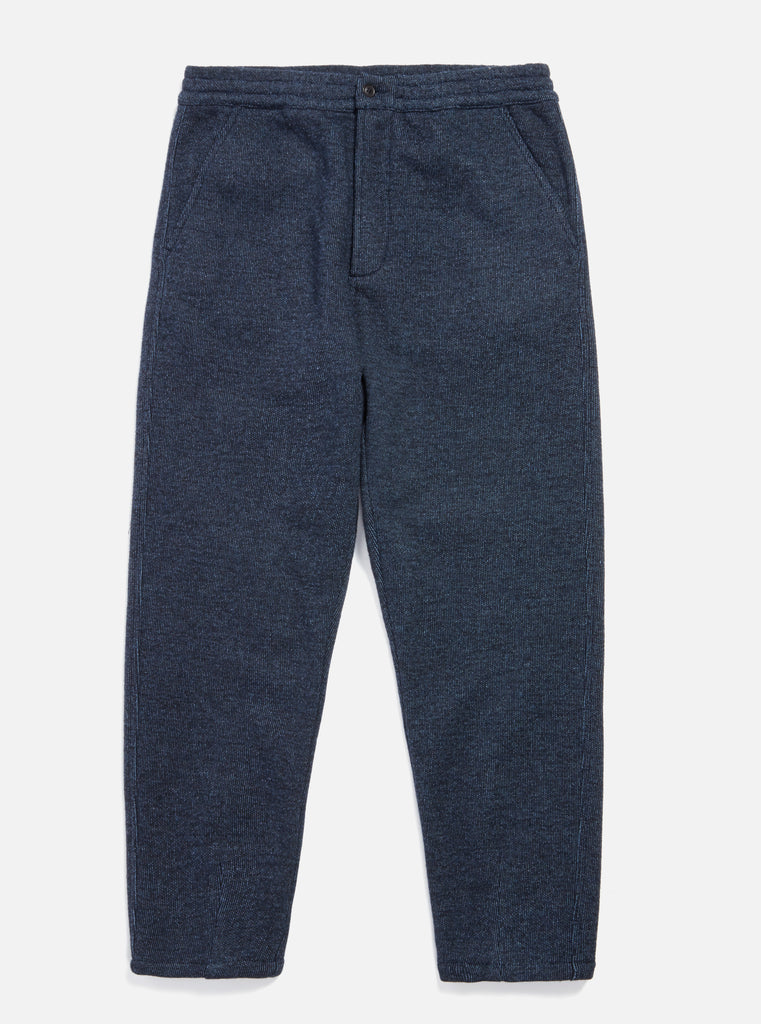 Universal Works Track Trouser in Indigo Denim Stripe
