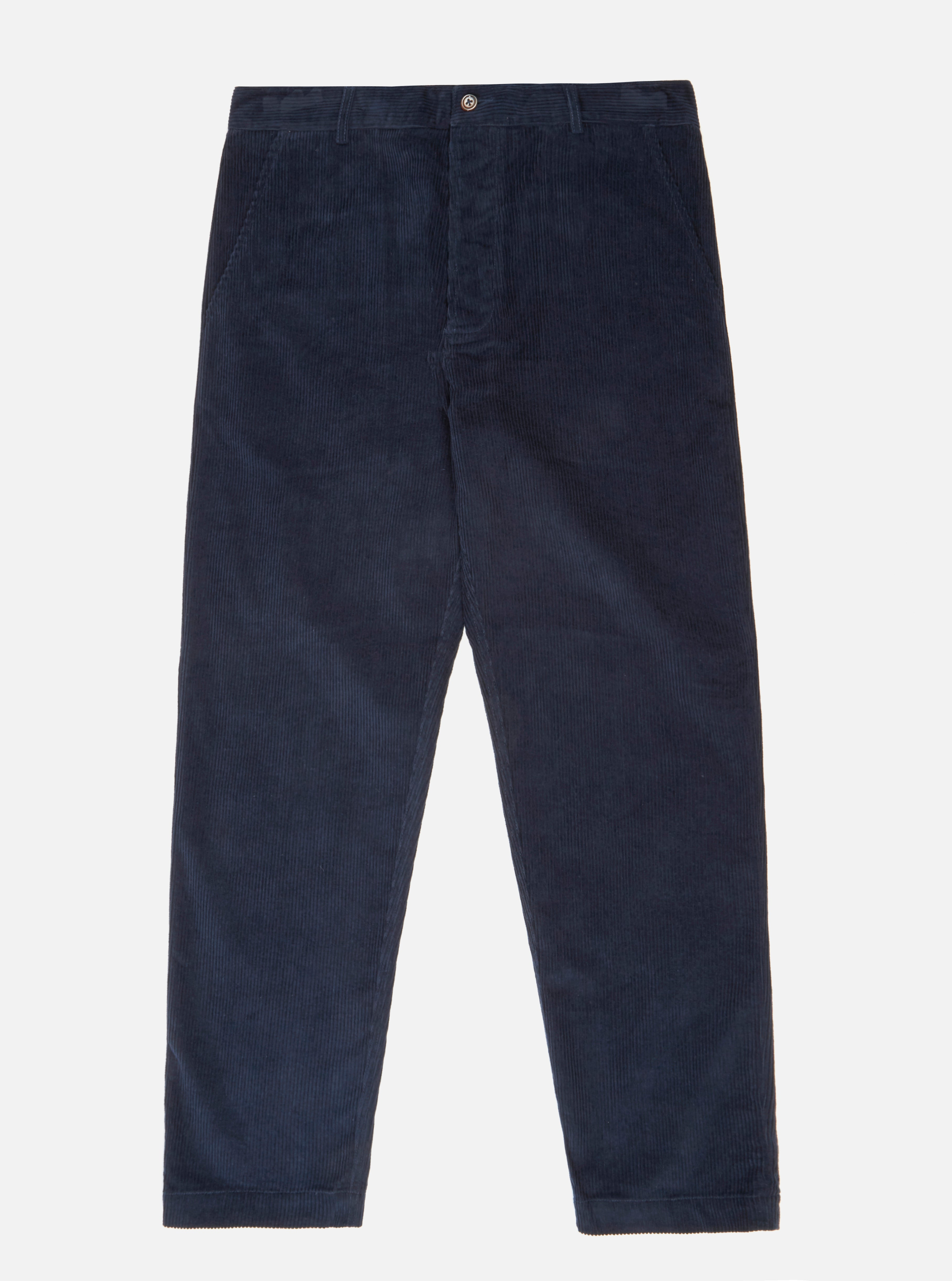 Universal Works Military Chino in Navy 8 Wale Cord