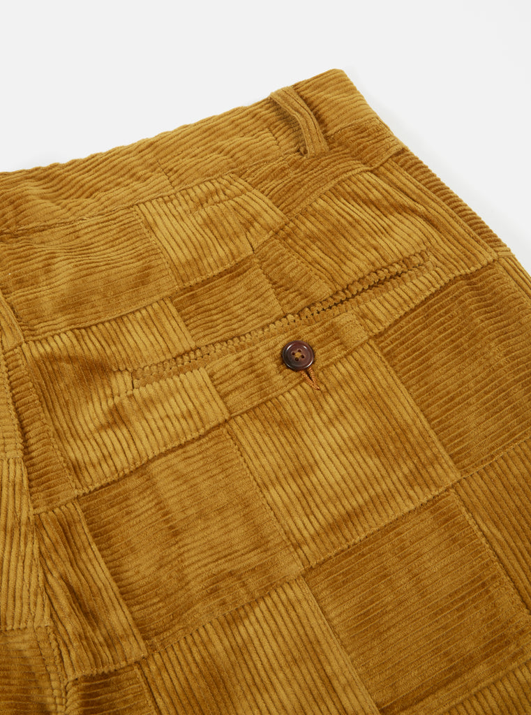 Universal Works Military Chino in Mustard Patchwork Cord