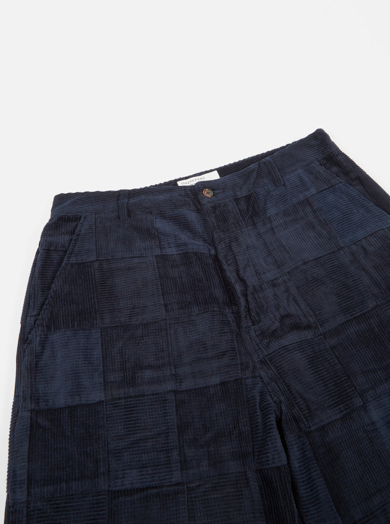 Universal Works Military Chino in Navy Patchwork Cord