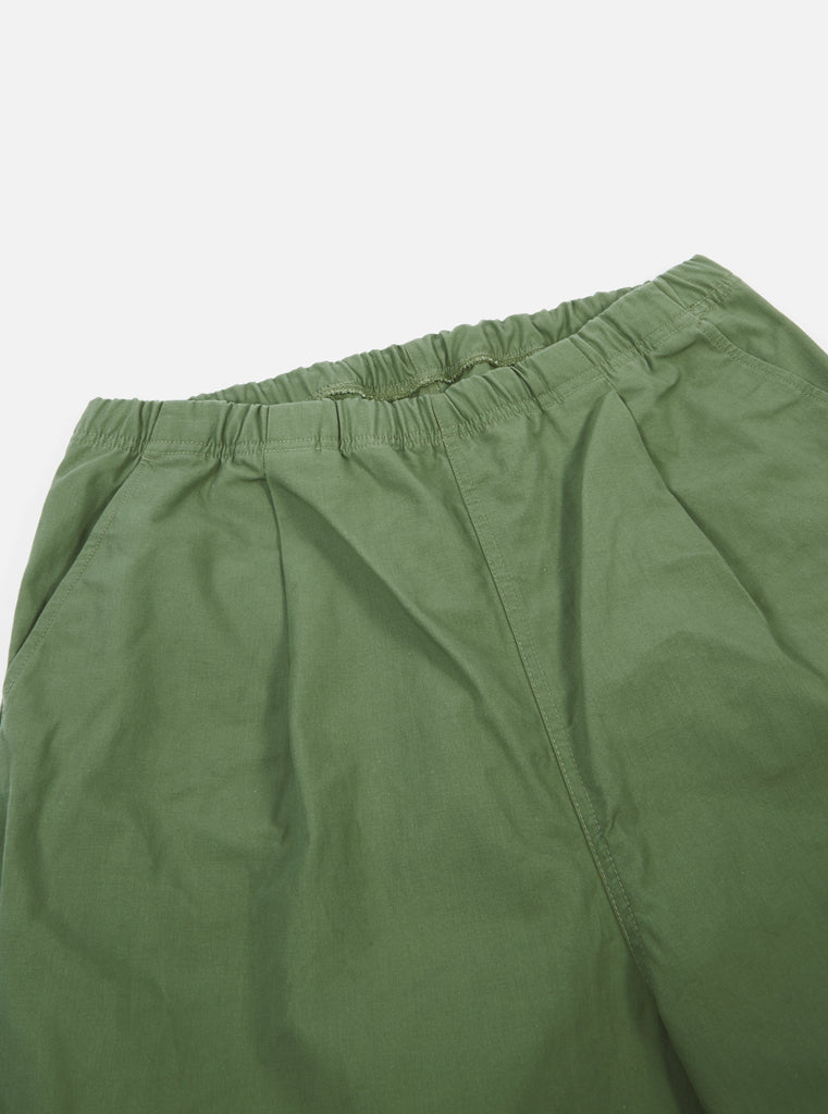 Universal Works Kyoto Work Pant in Olive Military Slub Cotton