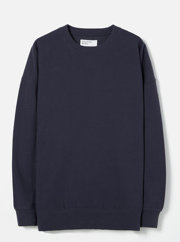 Universal Works Oversized Sweatshirt in Navy Loopback