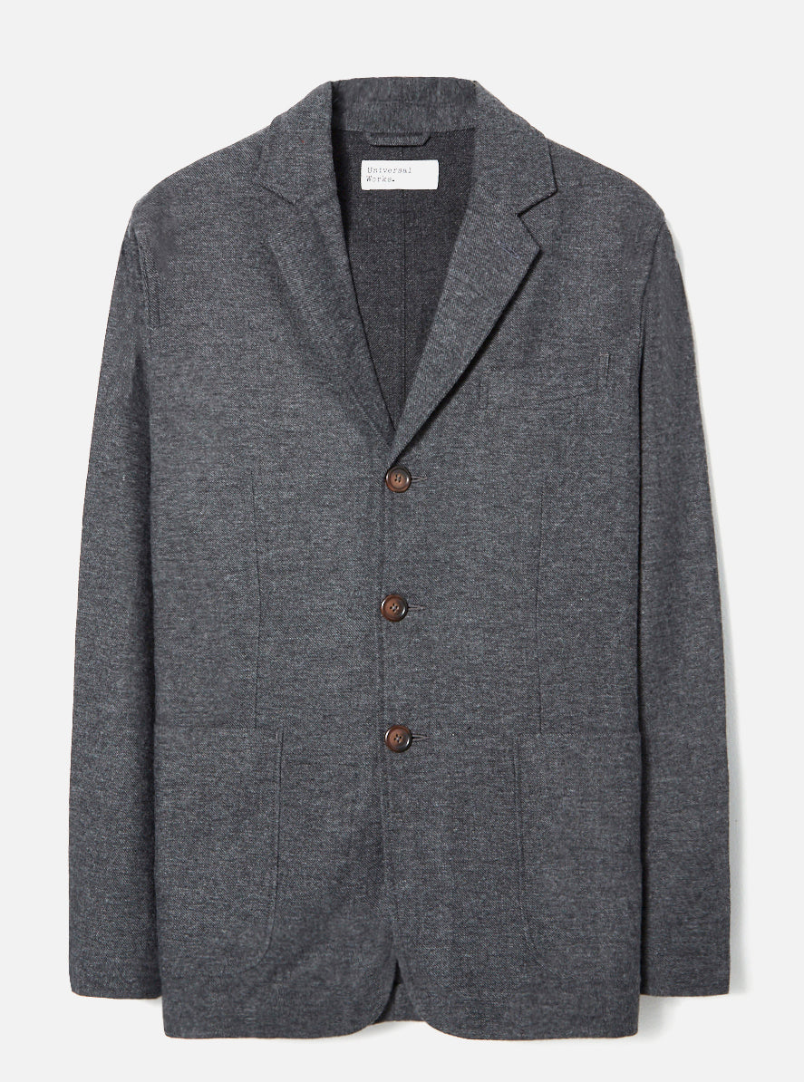Universal Works London Jacket in Grey Wool Marl