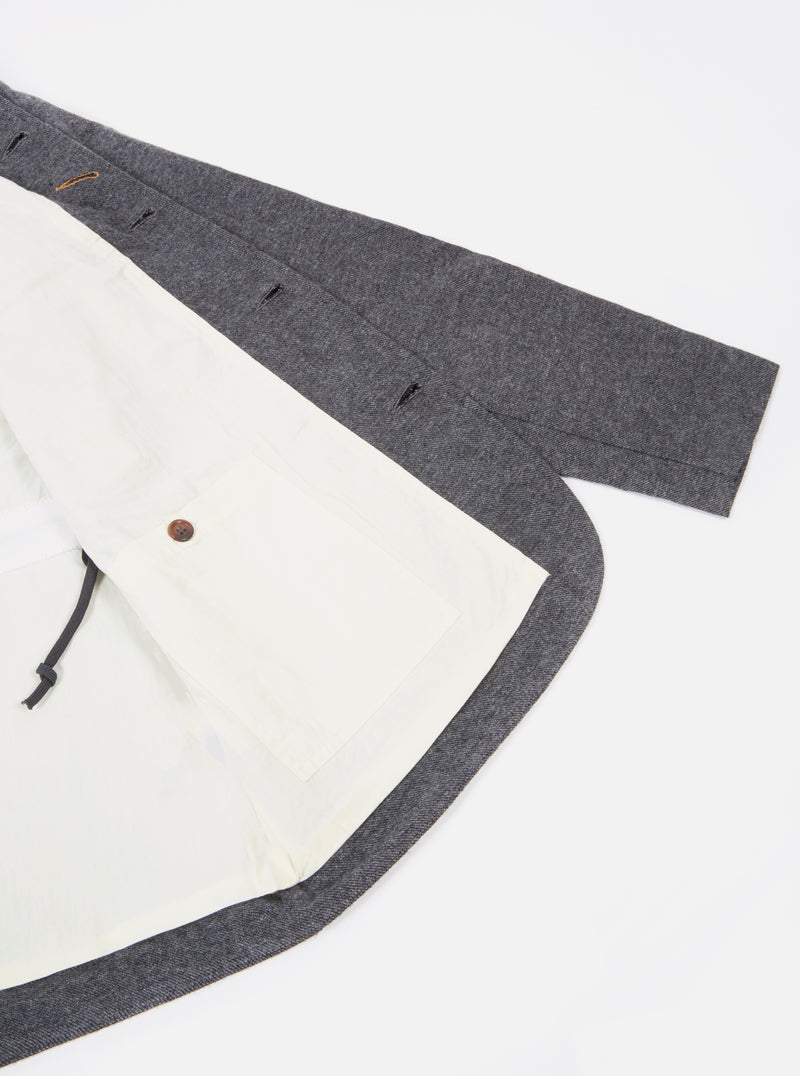 Universal Works Norfolk Bakers Jacket in Grey Wool Marl