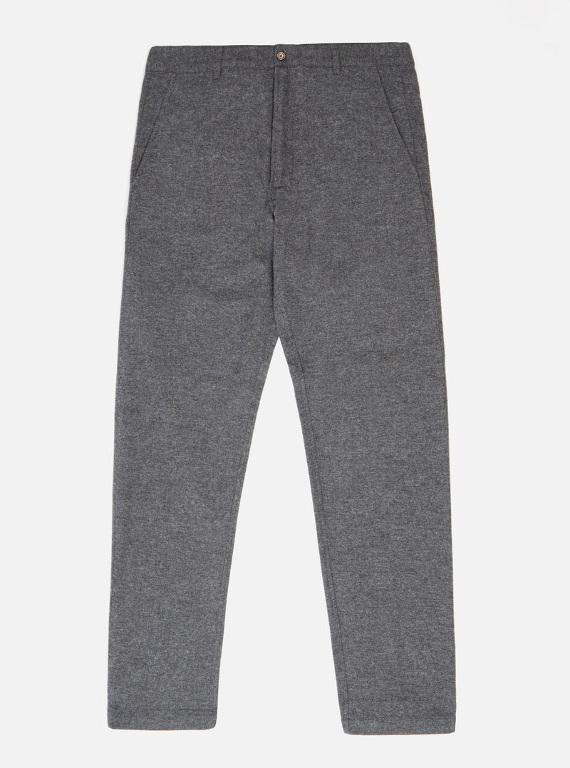 Universal Works Aston Pant in Grey Wool Marl