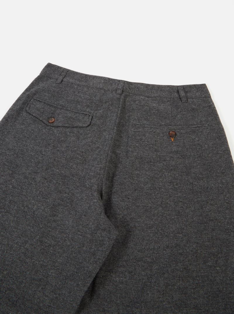 Universal Works Pleated Pant in Grey Wool Marl