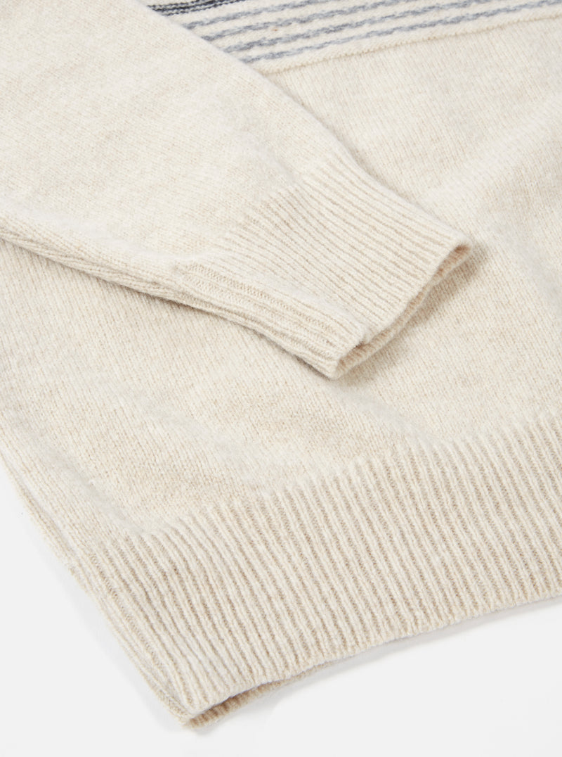 Universal Works Crew Neck in Sand Reverse Isle