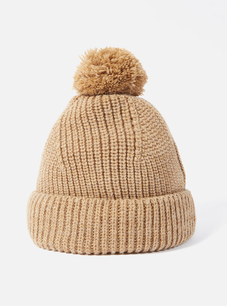 Universal Works Bobble Hat in Sand Alpacawool