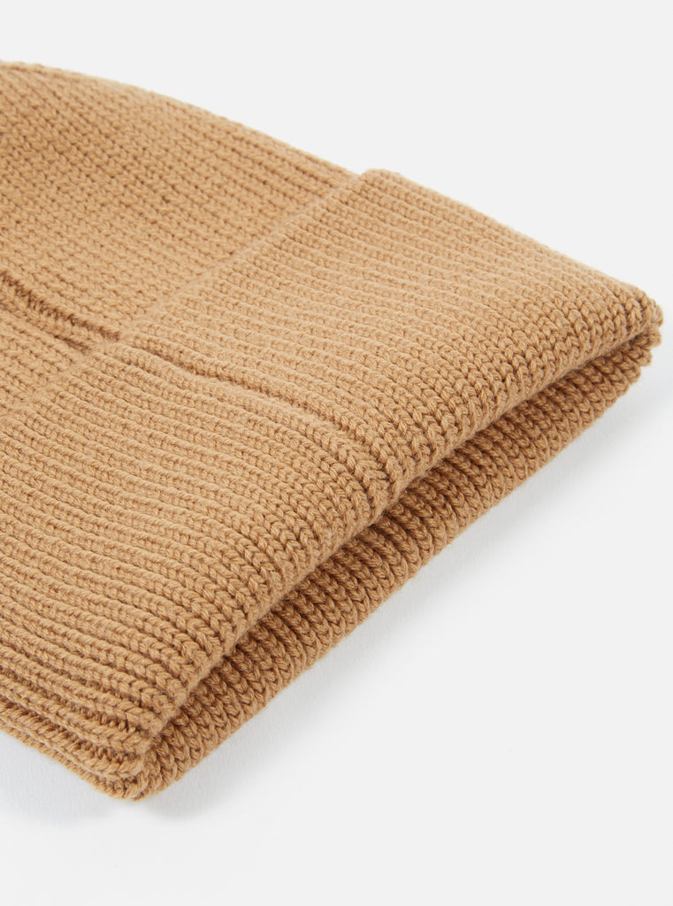 Universal Works Watch Cap in Cumin Merino Knit