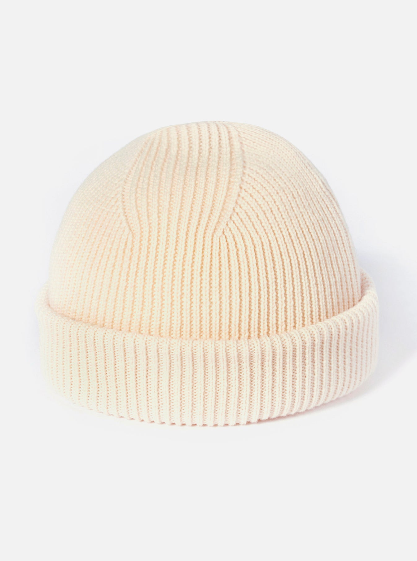 Universal Works Watch Cap in Ecru Merino Knit