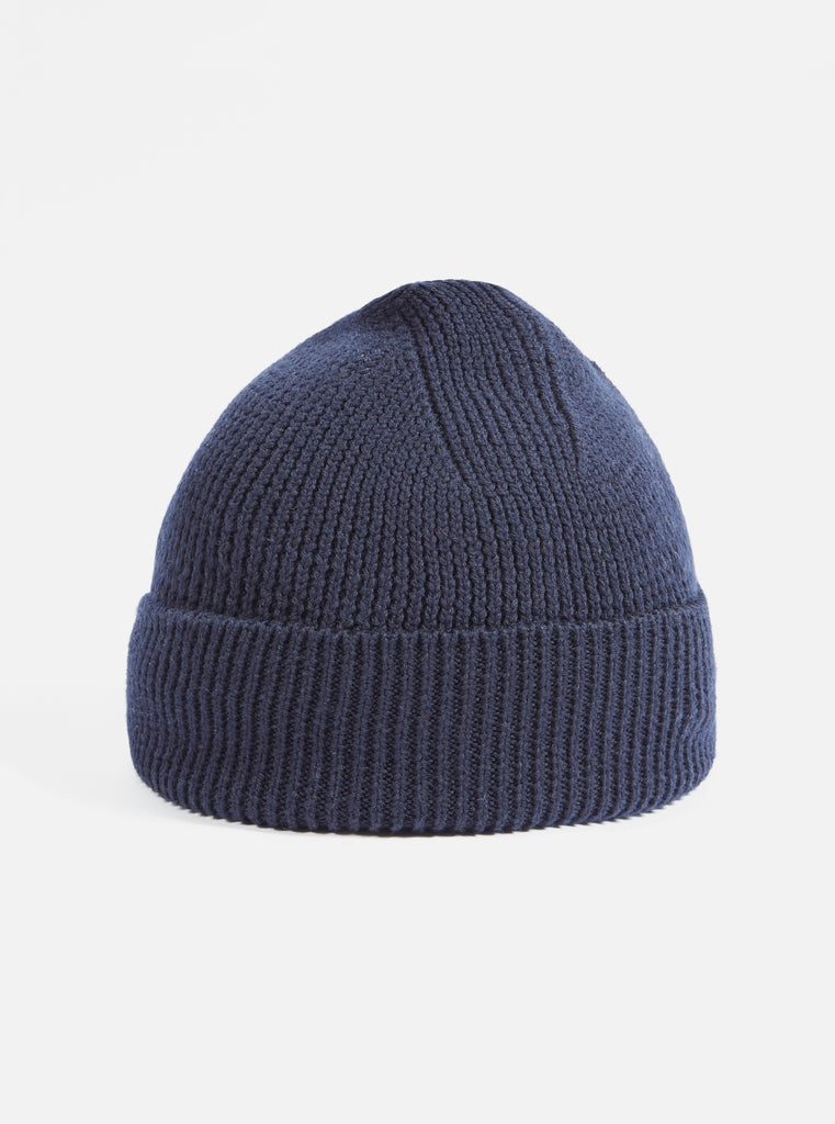 Universal Works Watch Cap in Navy Merino Knit