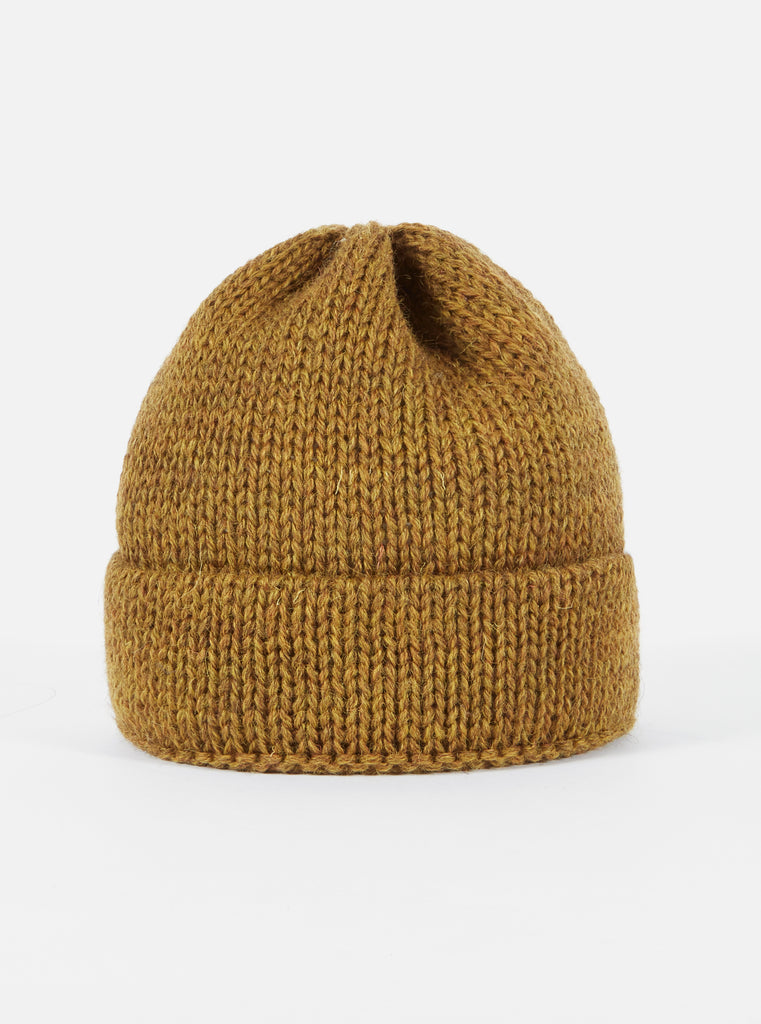 Universal Works Short Watch Cap in Mustard British Wool