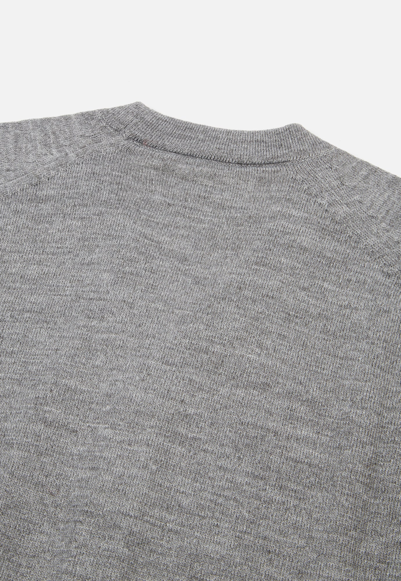 Universal Works Loose Cardigan in Grey Merino Knit