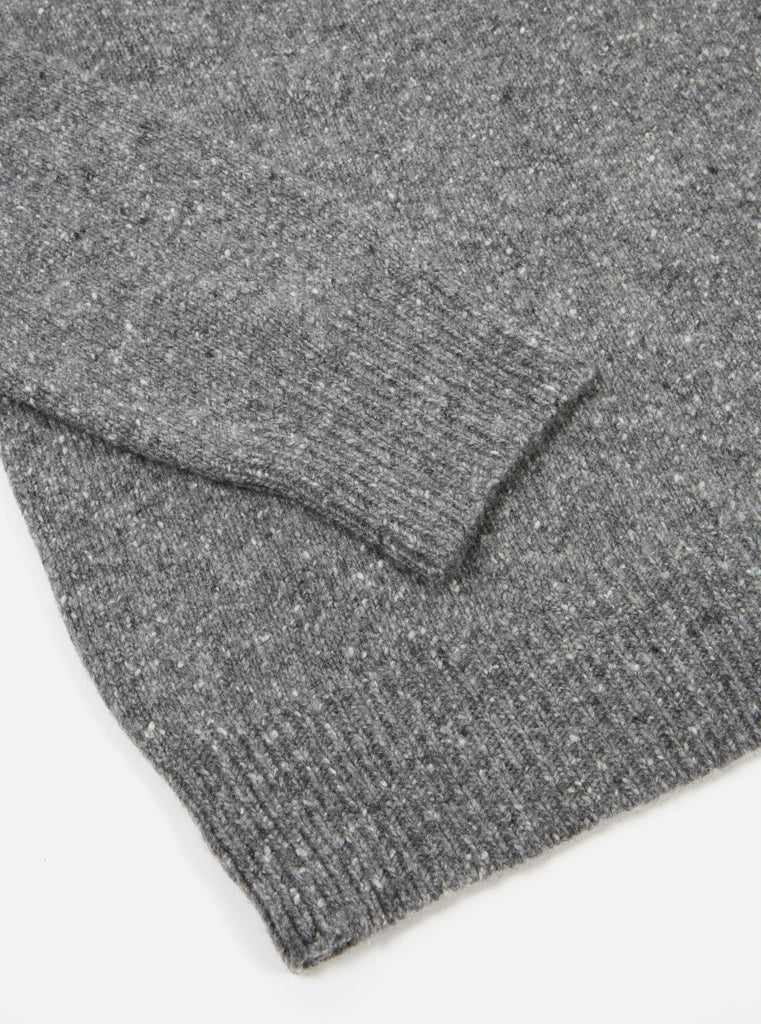 Universal Works Loose Crew in Grey Lambswool Fleck