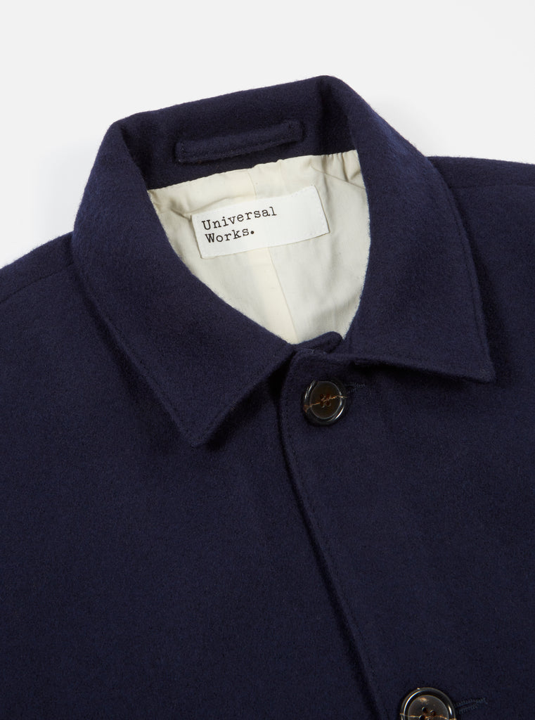 Universal Works Simple Bakers Jacket in Navy Melton