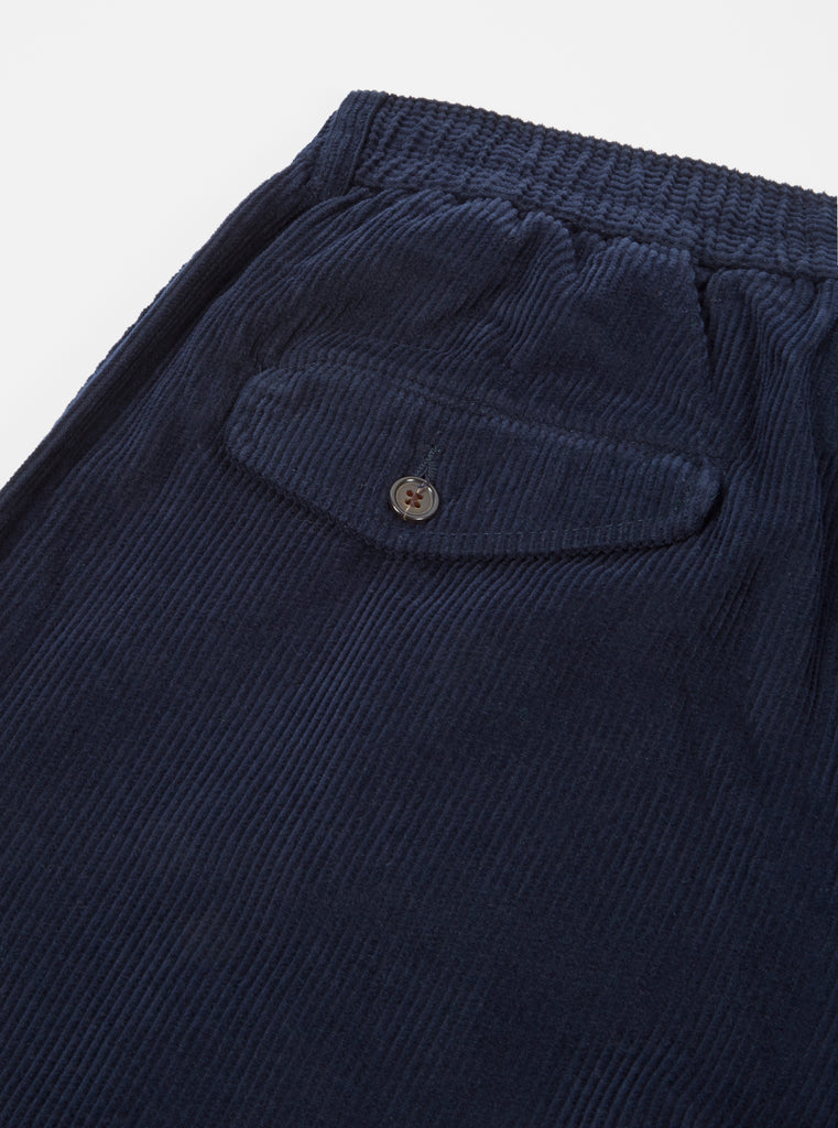 Universal Works Pleated Track Pant in Navy Cord