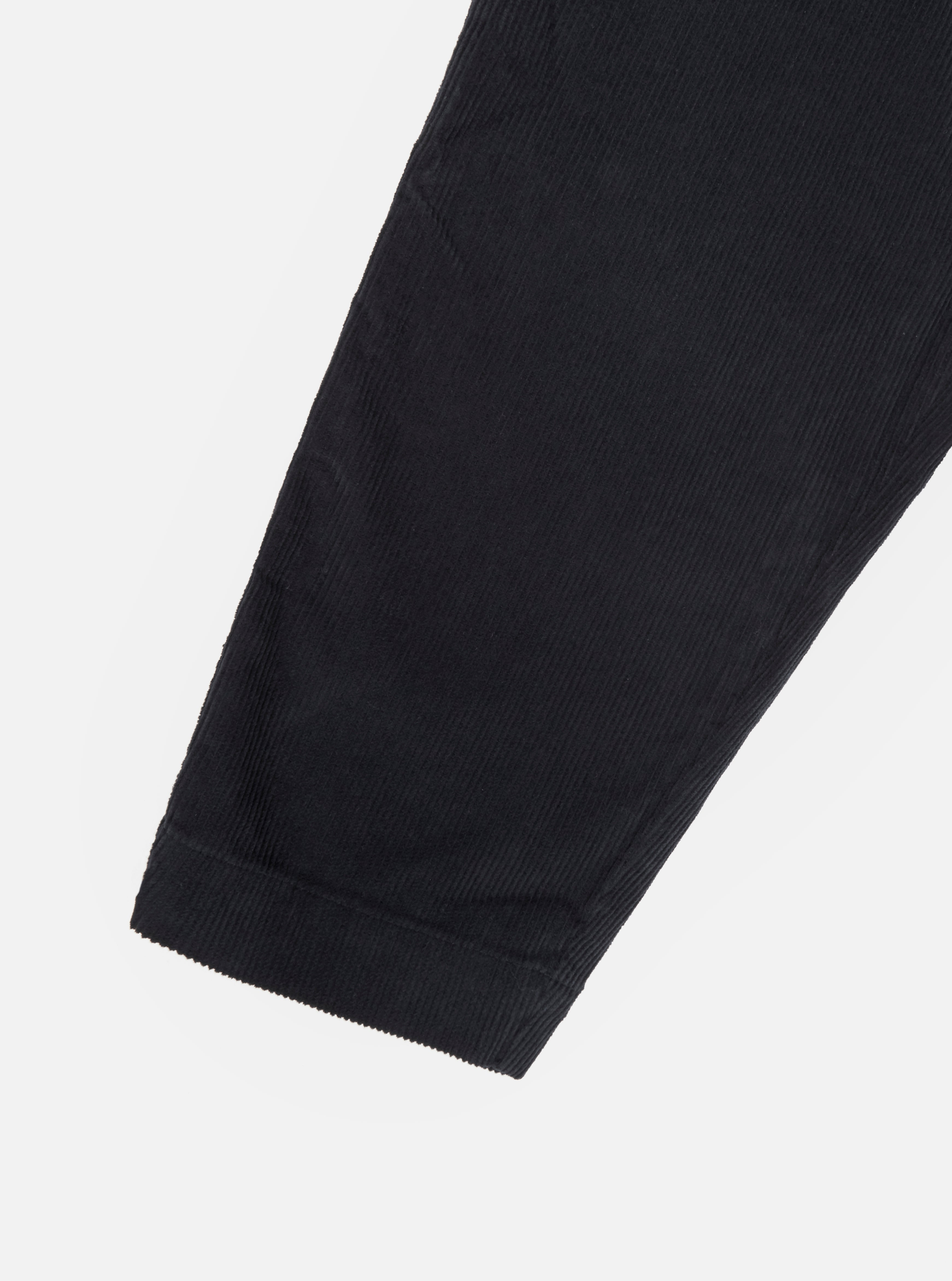 Universal Works Pleated Track Pant in Black Cord