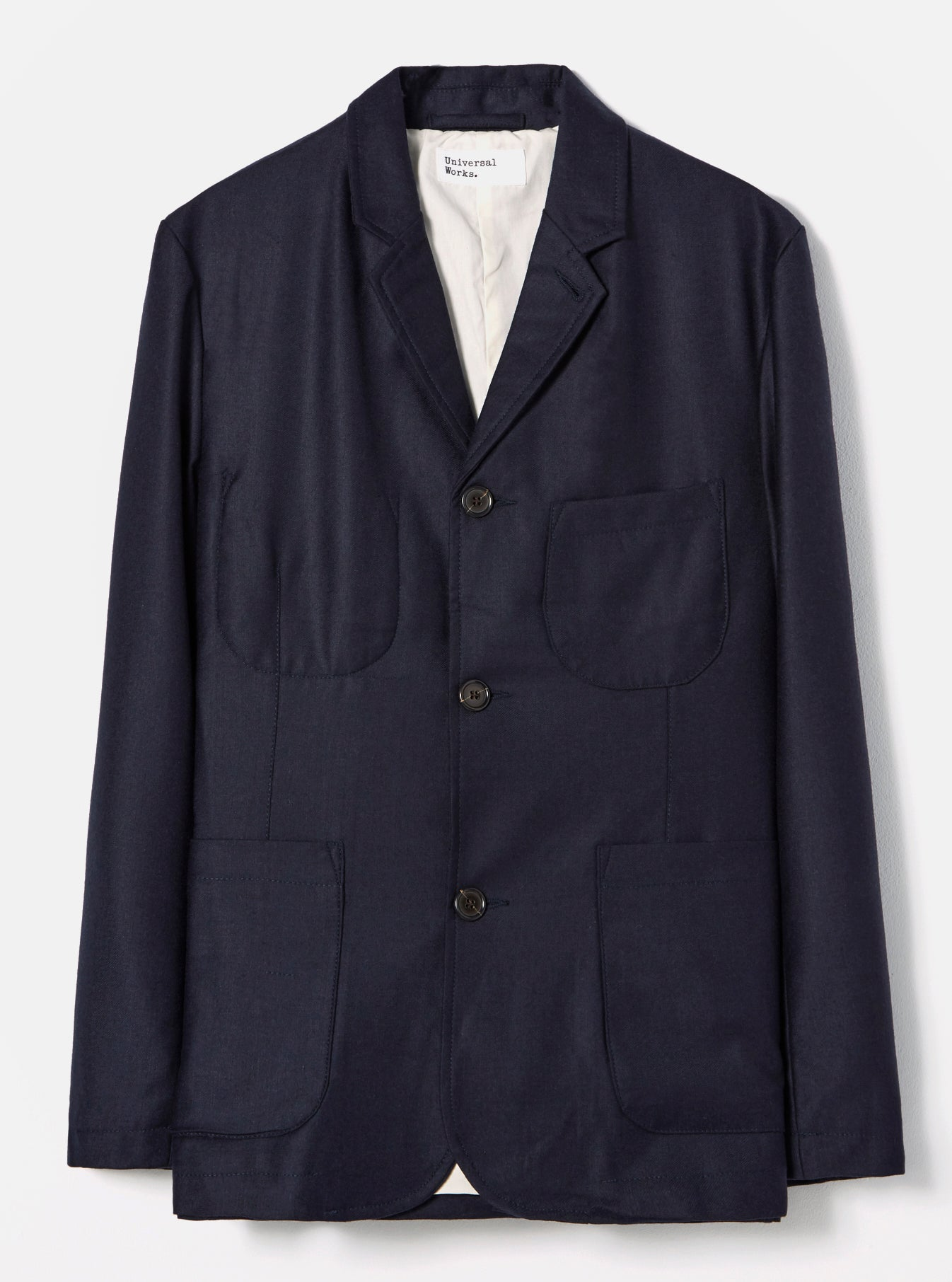 Universal Works Suit Jacket in Navy Flannel