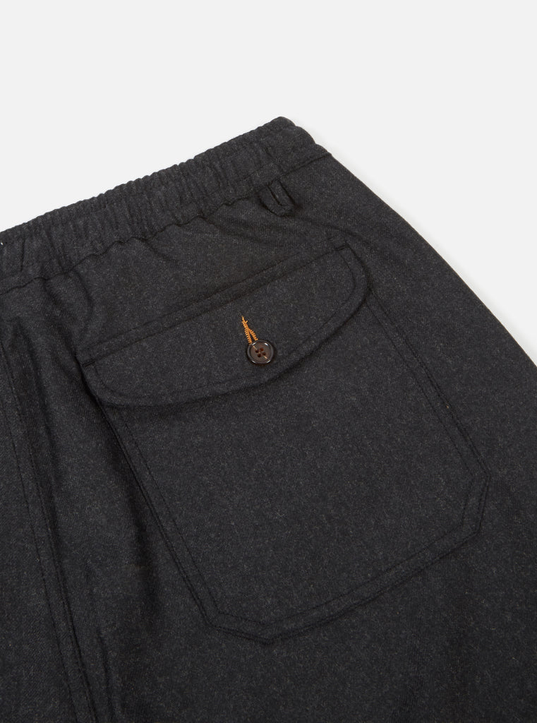 Universal Works Track Trouser in Charcoal Flannel