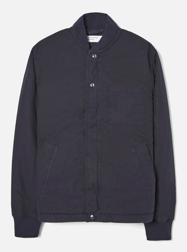 Universal Works Carlton Jacket in Midnight Quilt Insulated Cotton