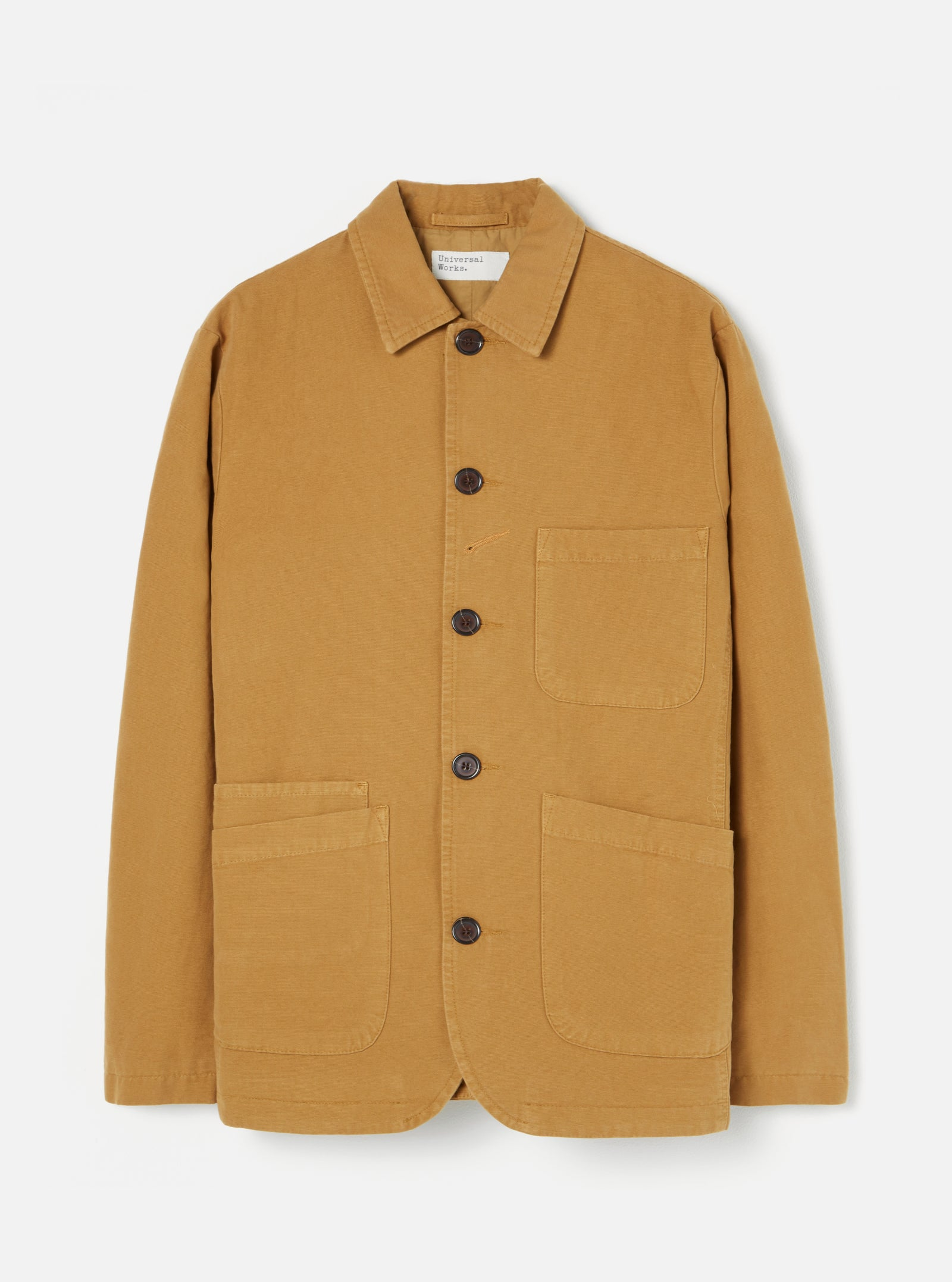 Universal Works Bakers Jacket in Cumin Canvas