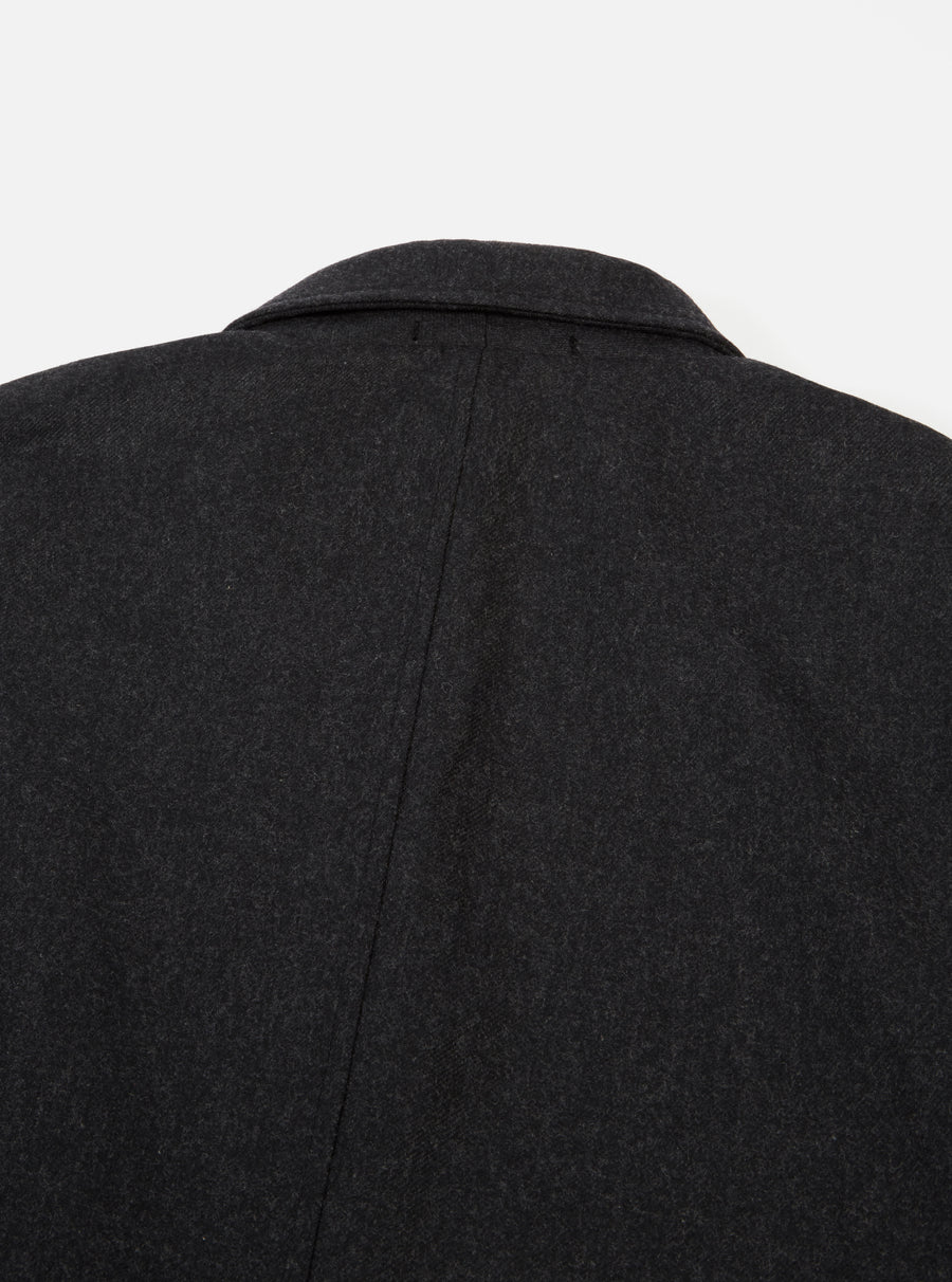Universal Works Barra Jacket in Charcoal Flannel