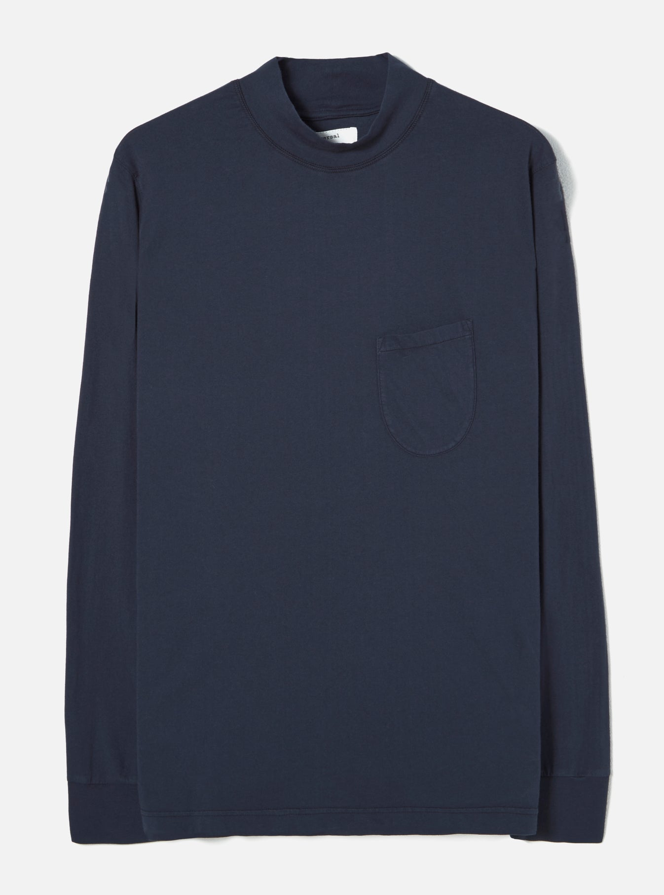 Universal Works Turtle Neck in Navy Single Jersey