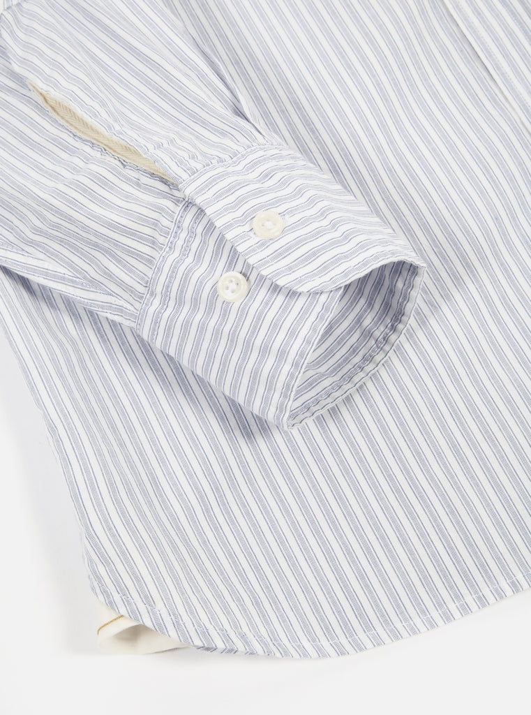 Universal Works New Standard Shirt in Blue Bankers Stripe