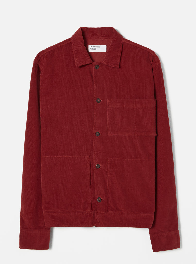 Universal Works Uniform Shirt in Claret Fine Cord