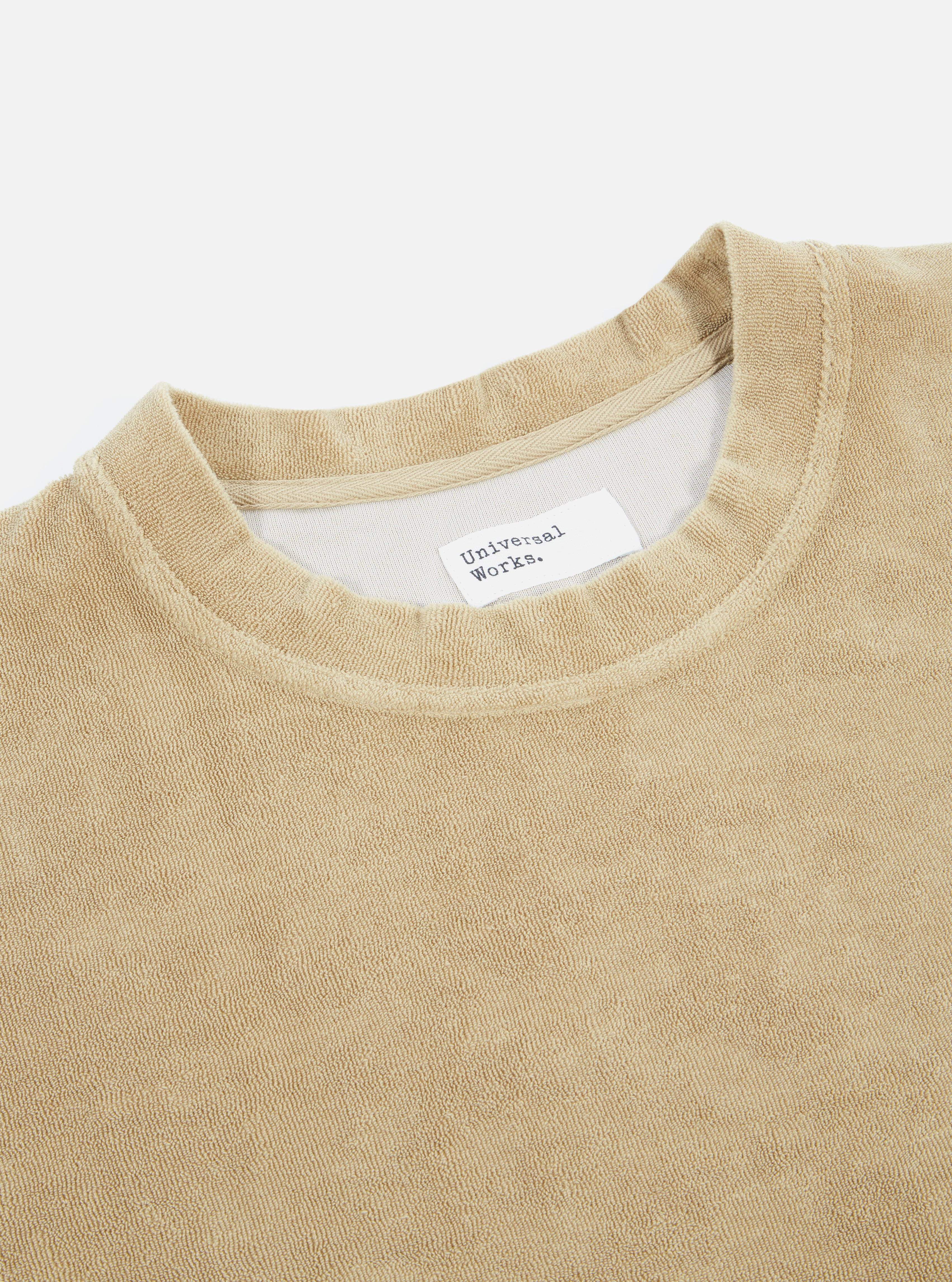 Universal Works Loose Pullover in Sand Terry Fleece
