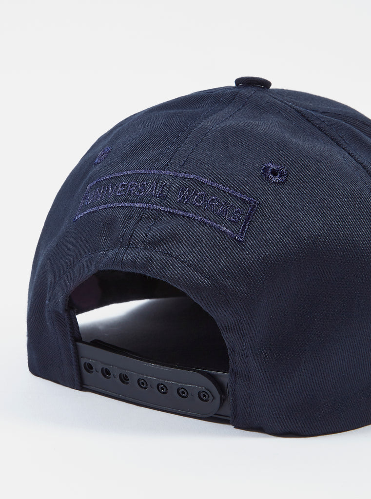 Universal Works Baseball Hat in Navy Cotton Drill