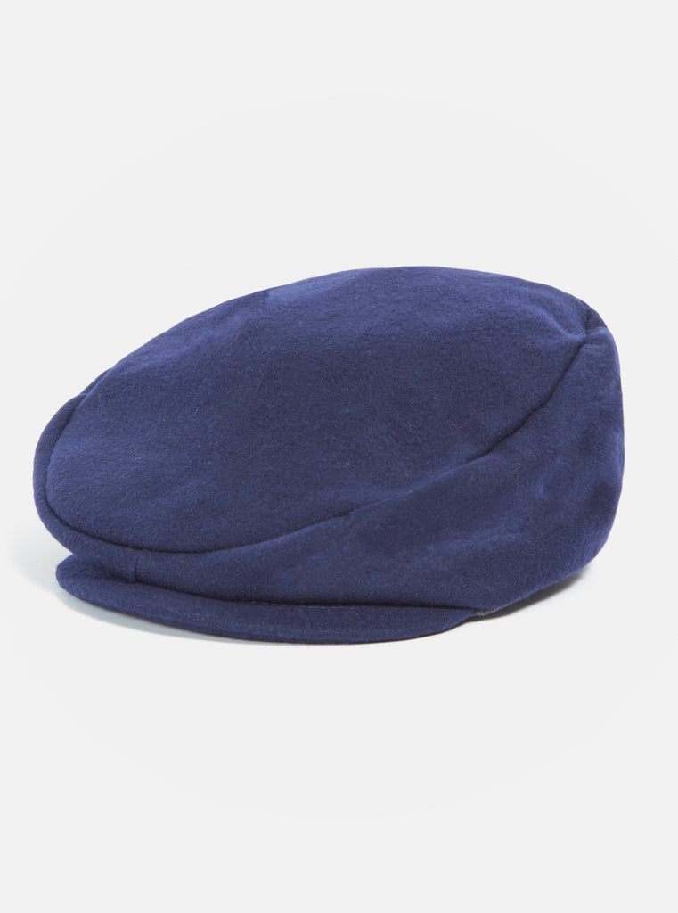 Universal Works Andy Cap in Navy Melton
