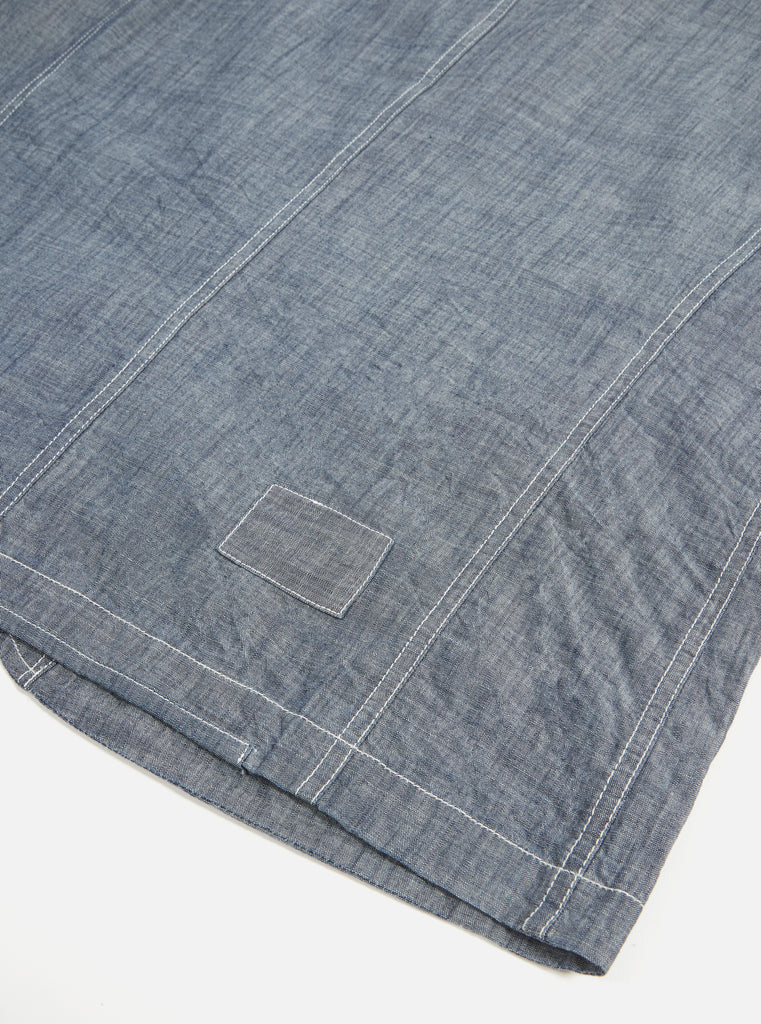 Universal Works Patched Bakers Jacket in Indigo Chambray
