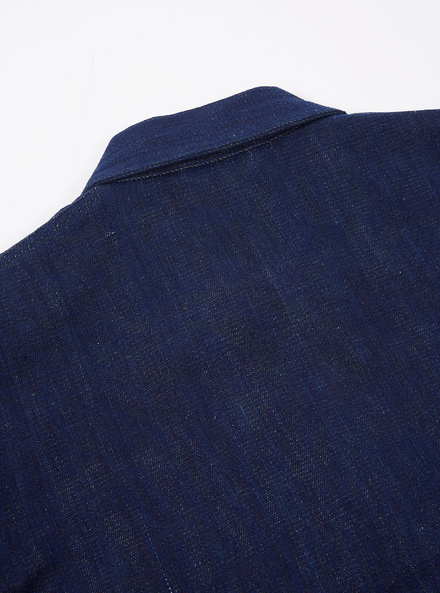 Universal Works Rose Bowl Jacket in Indigo Handloom Denim