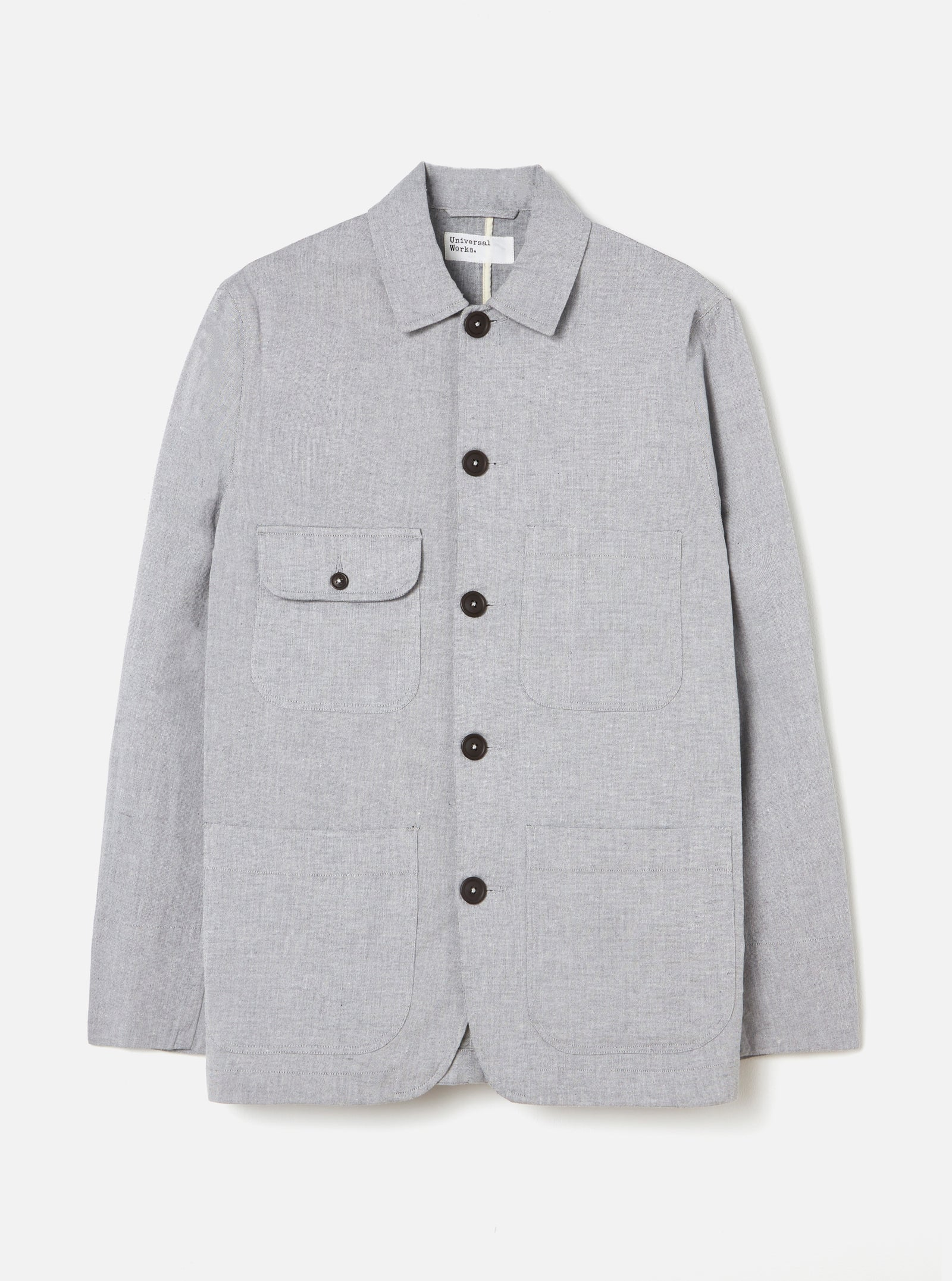 Universal Works DR Work Jacket in Grey Fine Weave