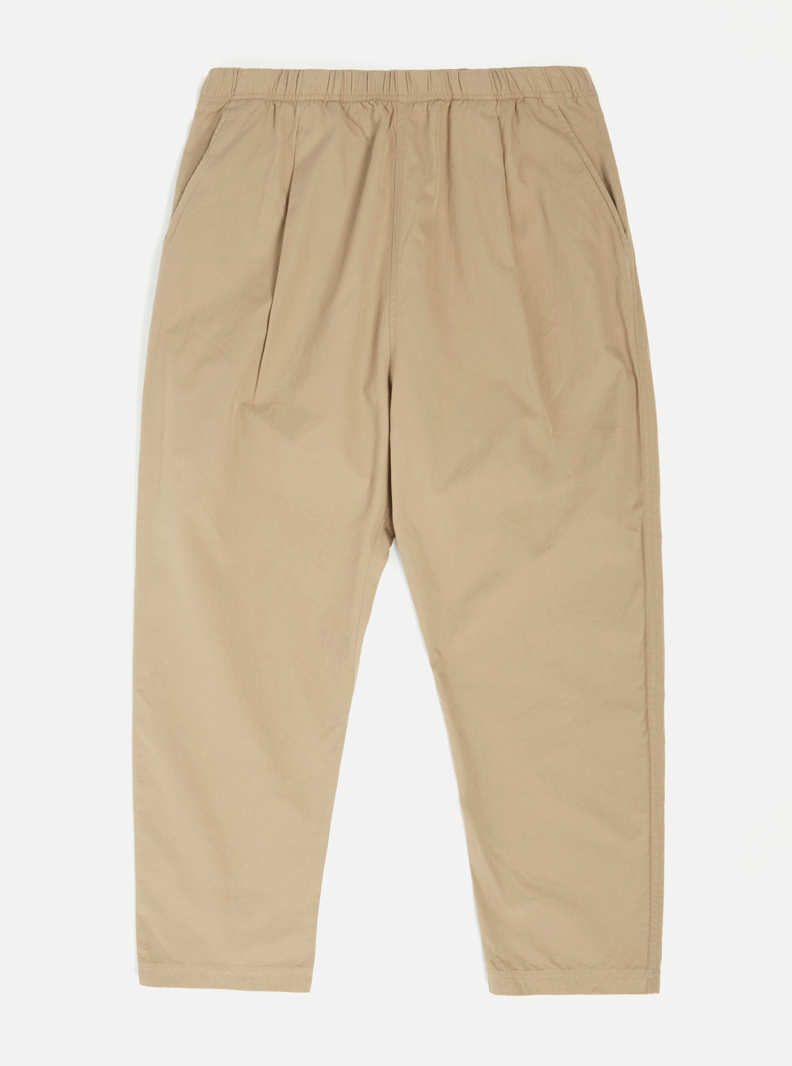 Universal Works Kyoto Work Pant in Sand Washed Cotton Suiting