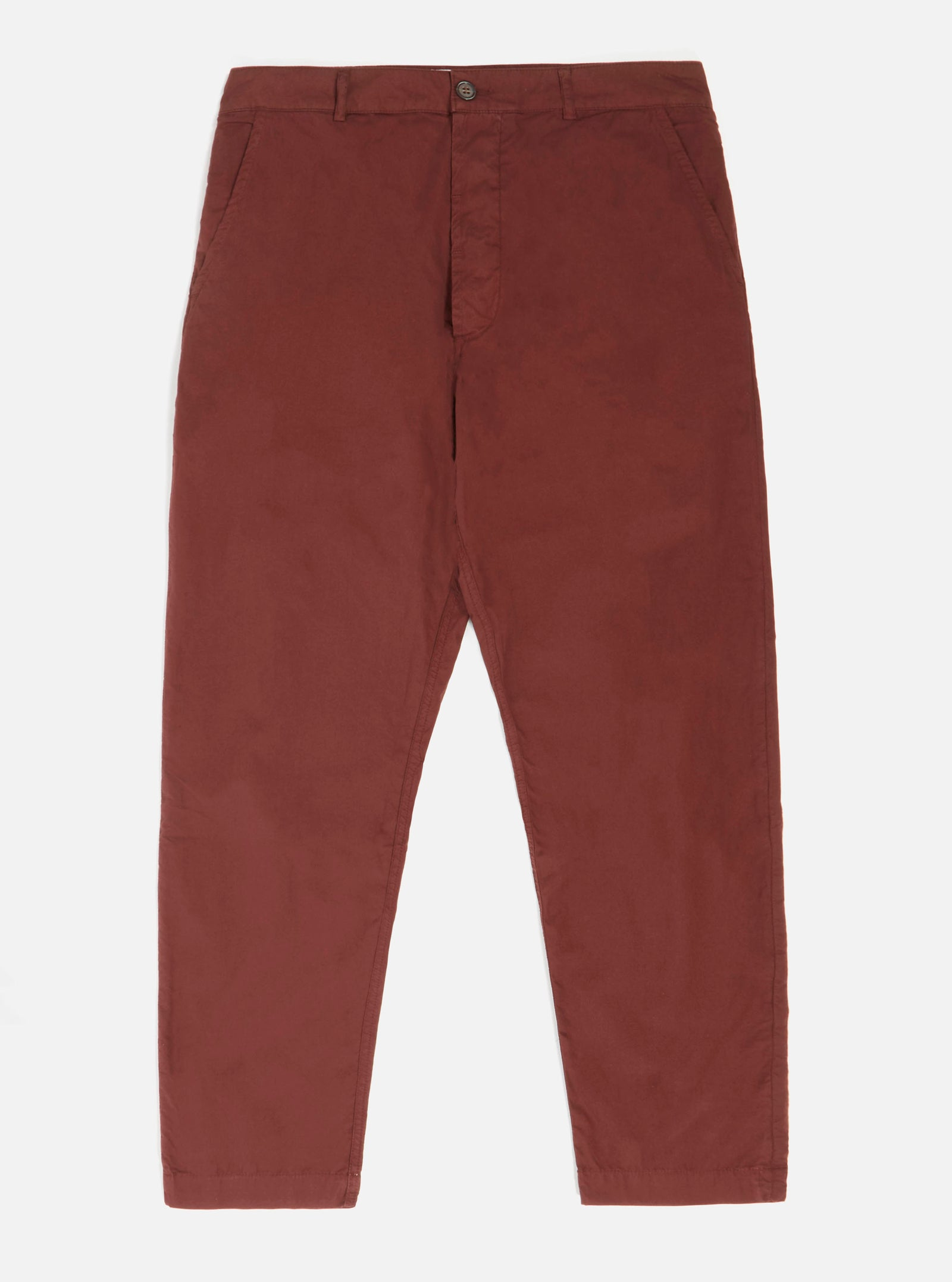 Universal Works Military Chino in Raisin Poplin