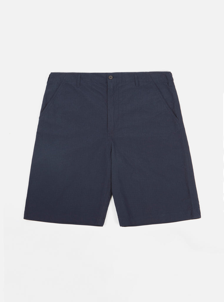 Universal Works Loose Short in Navy Ripstop Cotton