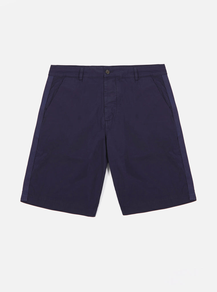 Universal Works Walk Short in Navy Poplin