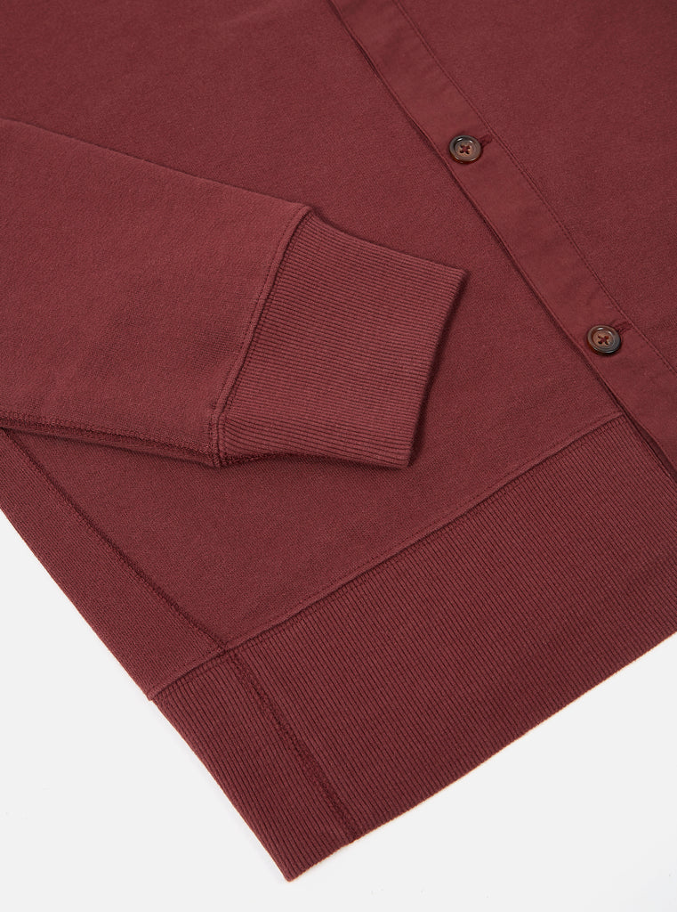 Universal Works Button Front Crew in Raisin Loopback