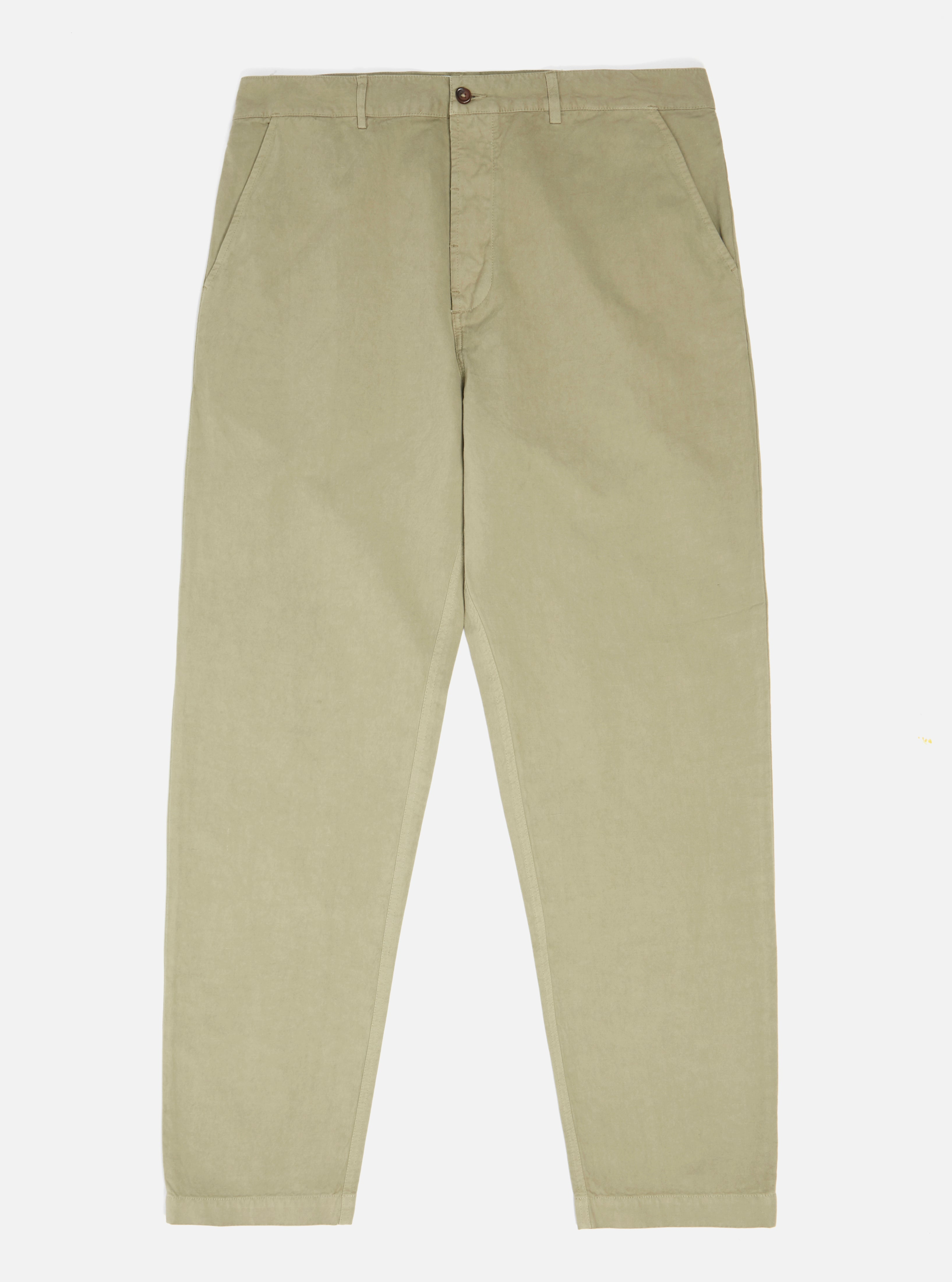 Universal Works Military Chino in Elm Linen Cotton