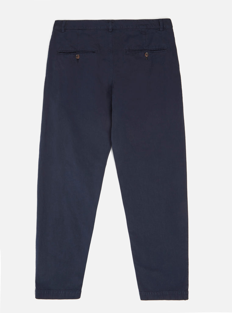 Universal Works Military Chino in Navy Linen Cotton