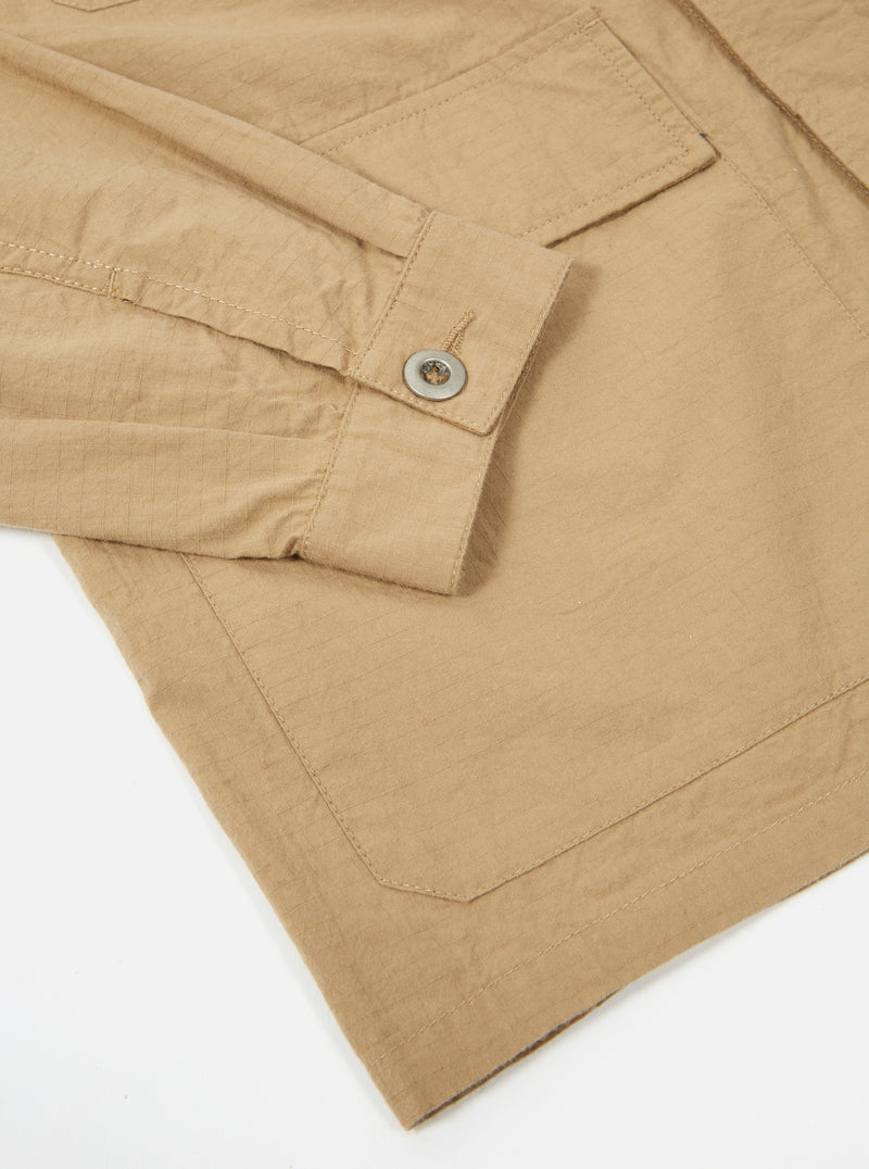 Universal Works MW Fatigue Jacket in Sand Ripstop Cotton