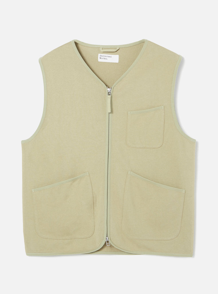 Universal Works Zip Gilet in Elm Loopback