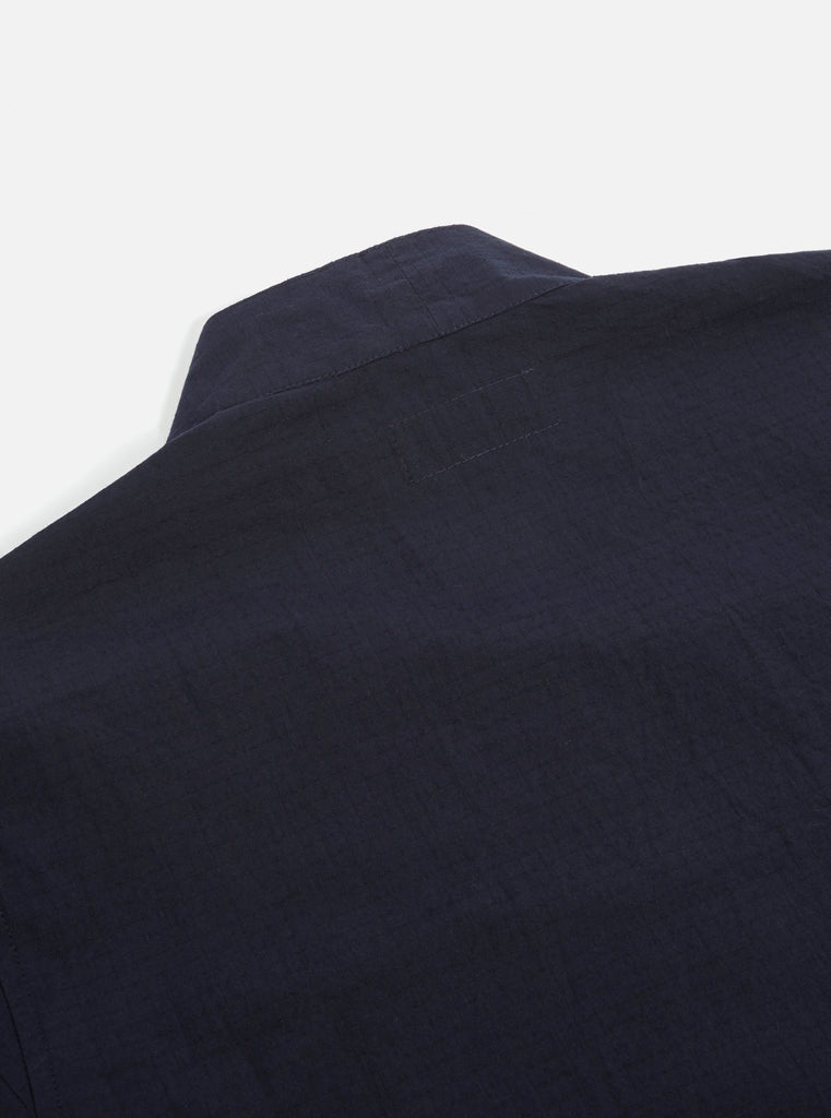 Universal Works Kyoto Work Jacket in Navy Ripstop Cotton