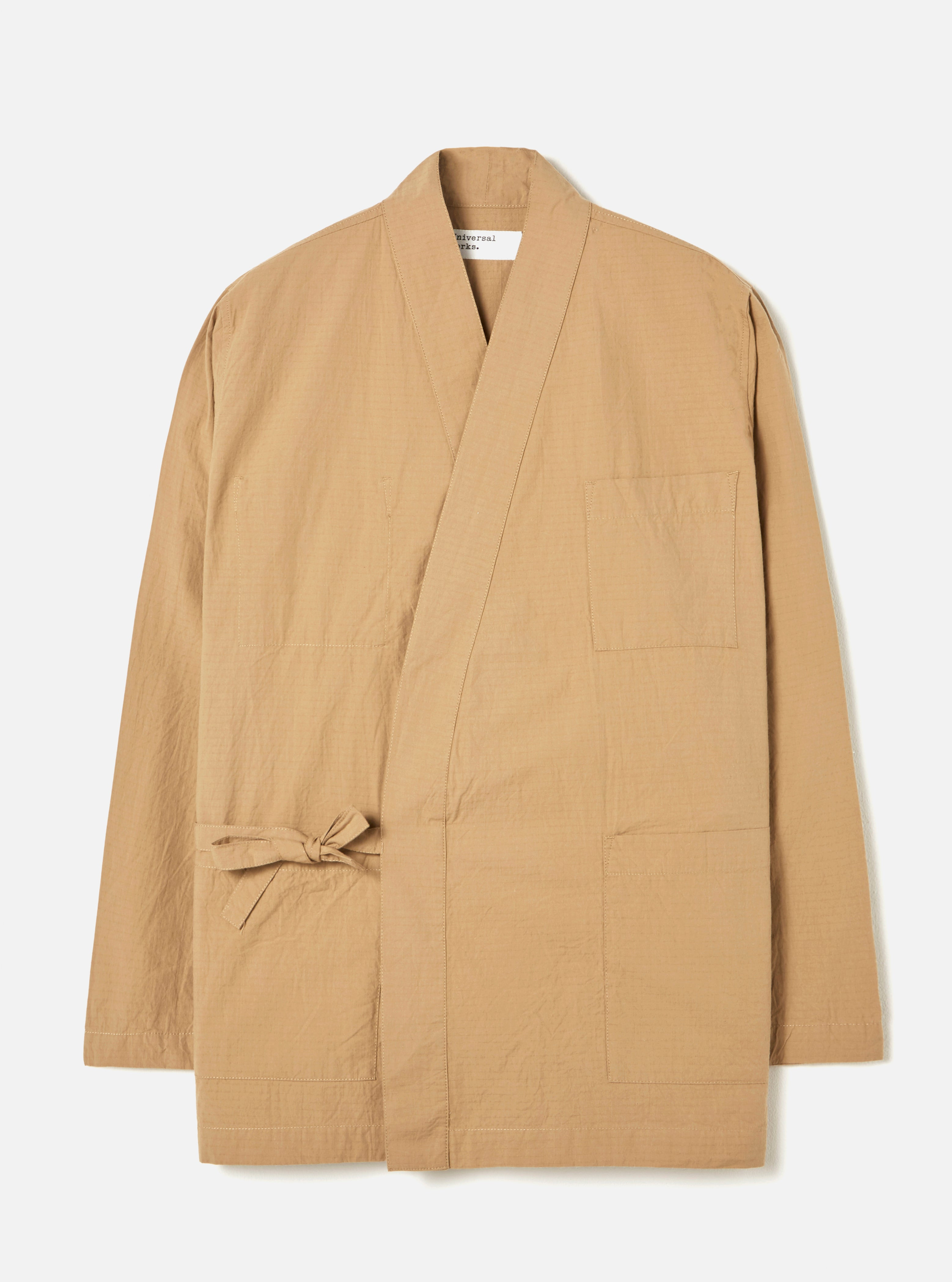 Universal Works Kyoto Work Jacket in Sand Ripstop Cotton