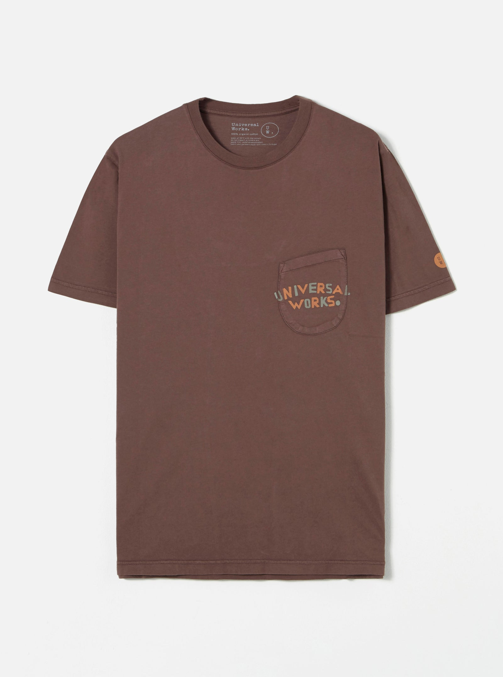 Universal Works Print Pocket Tee in Raisin Universal Works Print
