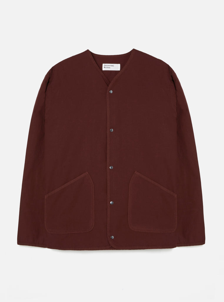 Universal Works Liner Jacket in Raisin Poplin