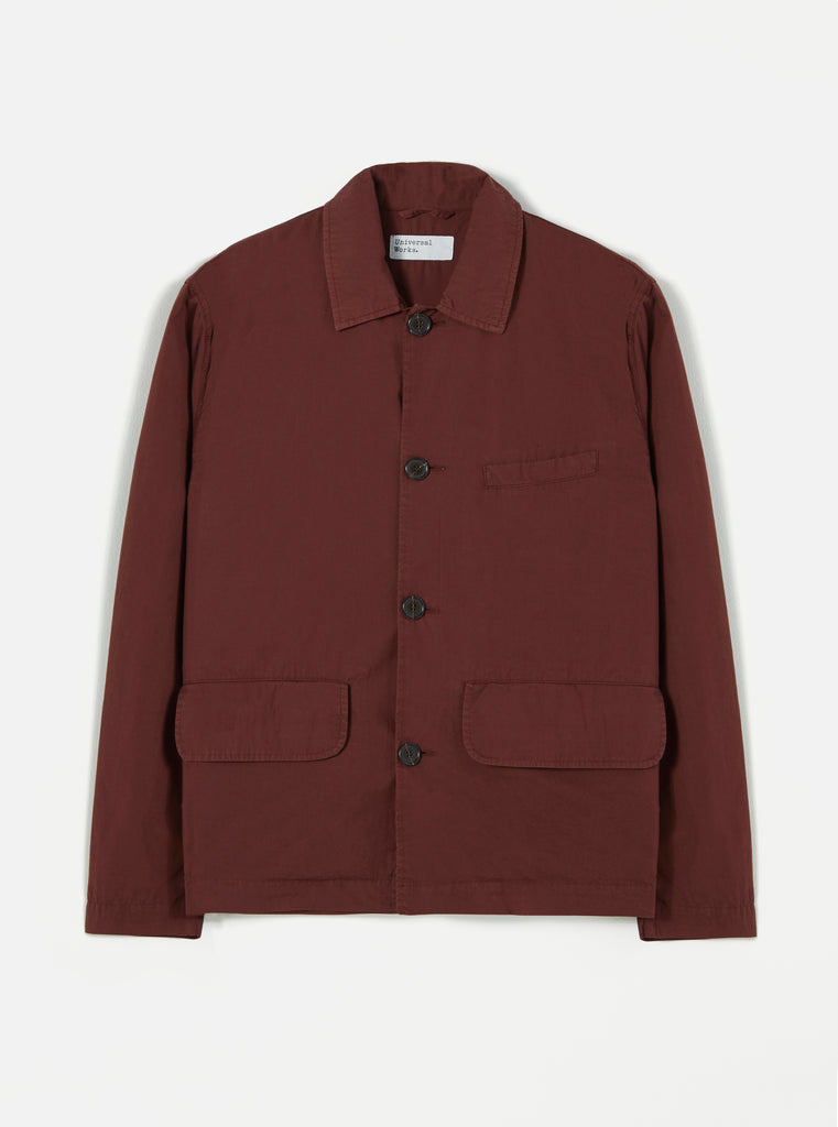 Universal Works Warmus II Jacket in Raisin Poplin