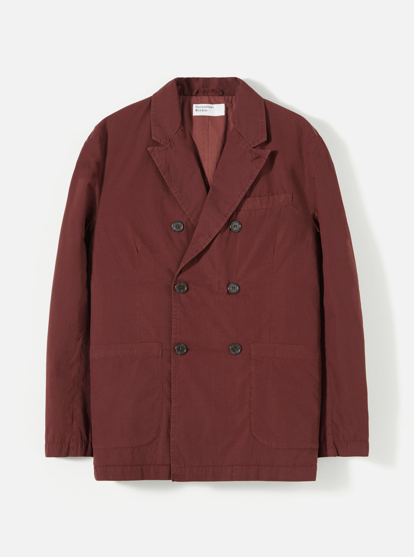 Universal Works Manor Jacket in Raisin Poplin